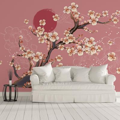 Tapet - Flori de cireș0