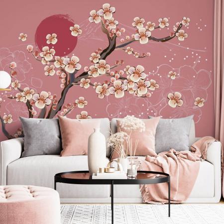 Fototapet - Flori de cires japonez [0]