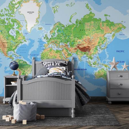 Tapet - Harta lumii0
