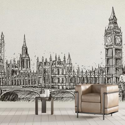 Tapet - Londra în creion0