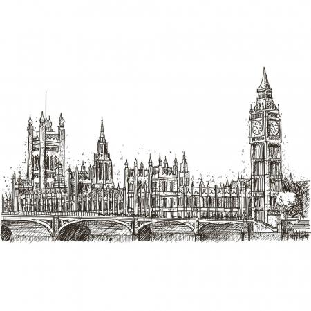 Tapet - Londra în creion [1]