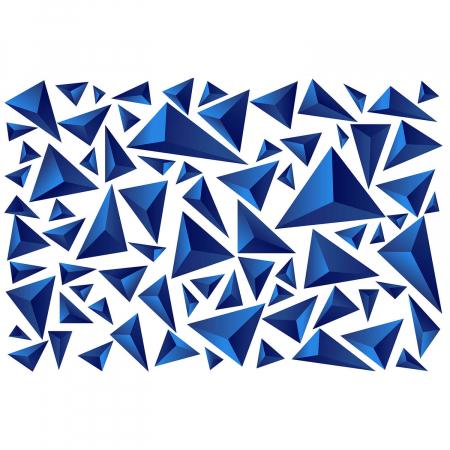 Tapet - Piramide albastre [1]