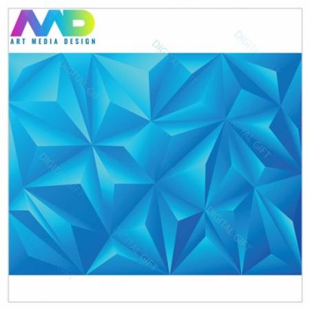 Tapet - Piramide albastru 3D1