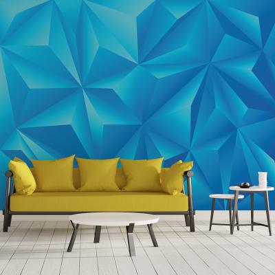 Tapet - Piramide albastru 3D0