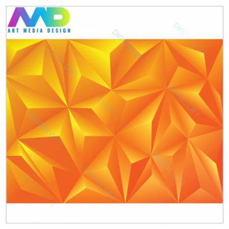 Tapet - Piramide orange 3D1