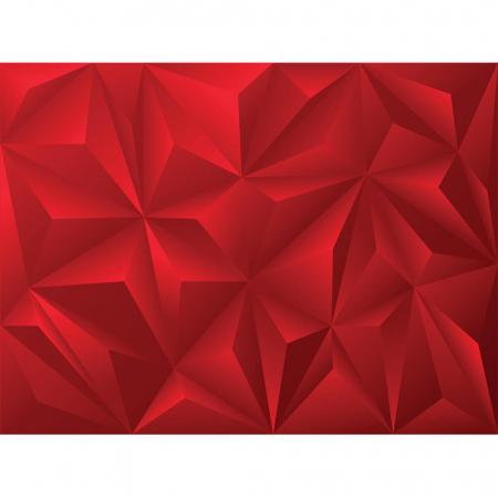 Tapet - Piramide roșu 3D [1]