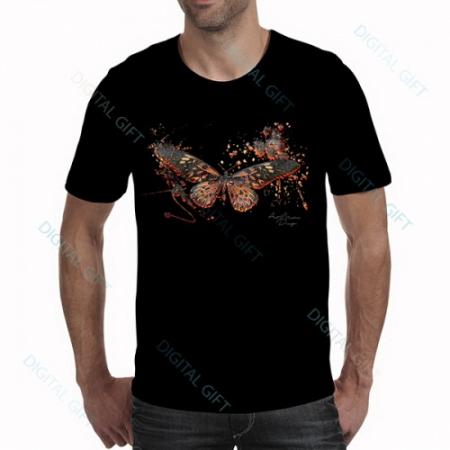 Tricou bărbați - Fluture abstract - față0