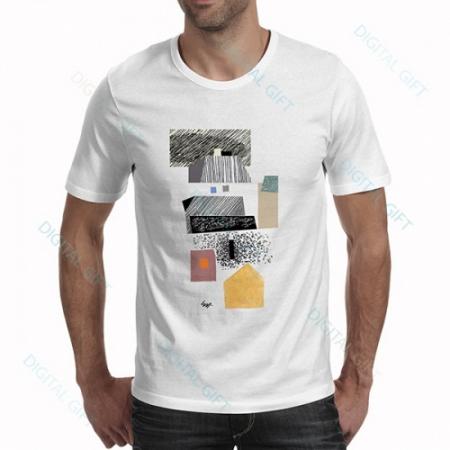 Tricou bărbați - Brașov, compoziție abstractă 030