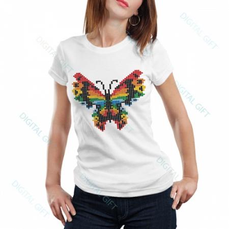 Tricou dame - Fluture stilizat0