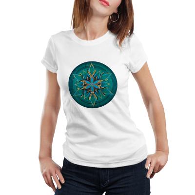 """Tricou dame - Mandala """"Vishuddha""""0"""
