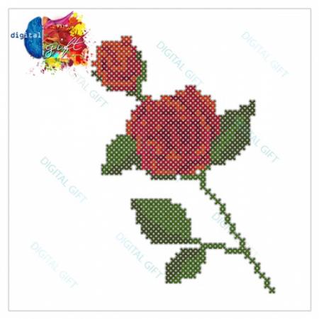 Tricou dame - Trandafir cusut1