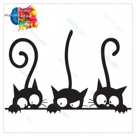 Tricou dame - Trei pisici1