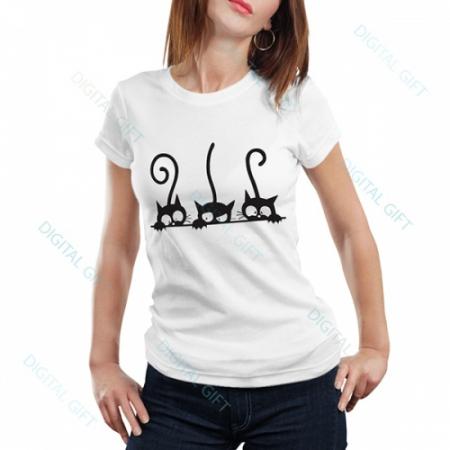 Tricou dame - Trei pisici0