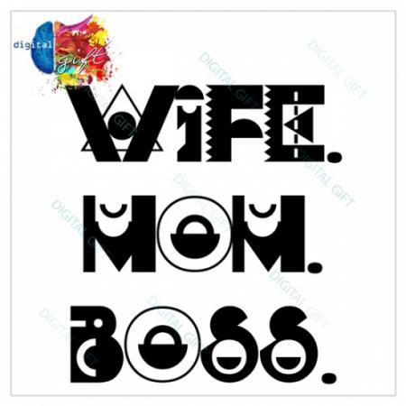 Tricou dame - Wife Mom Boss1