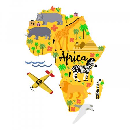 Tricou unisex pentru copii - Africa Cartoon [1]