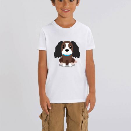 Tricou unisex copii - Cățelușul meu, Cocker [0]