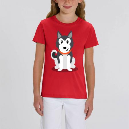 Tricou unisex copii - Cățelușul meu, Husky [0]