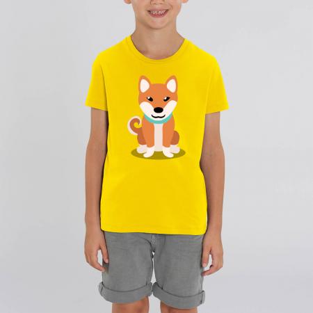 Tricou unisex copii - Cățelușul meu, Shiba [0]