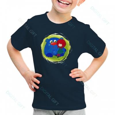 Tricou unisex copii - Fetița cu ursul0