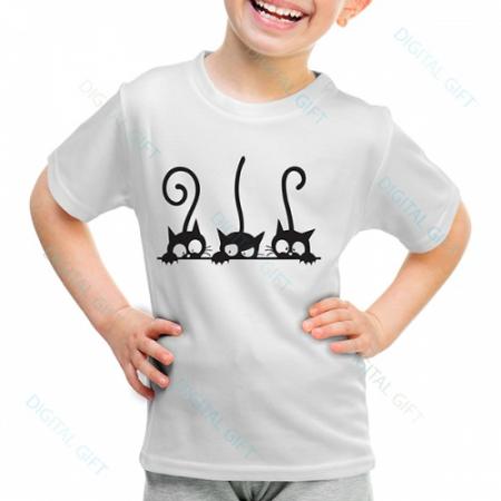 Tricou unisex copii - Trei pisici0