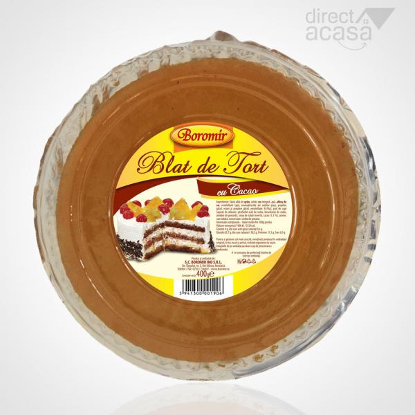 BOROMIR BLAT DE TORT CACAO 400G 0