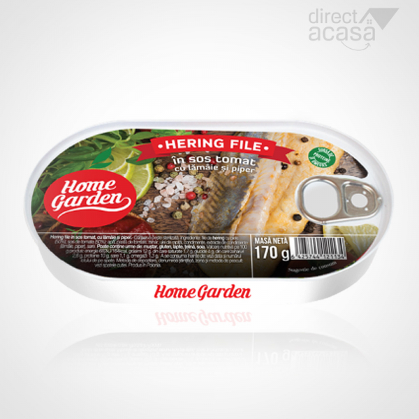 HOME GARDEN HERING FILE IN SOS TOMAT CU PIPER SI LAMAIE 170G 0