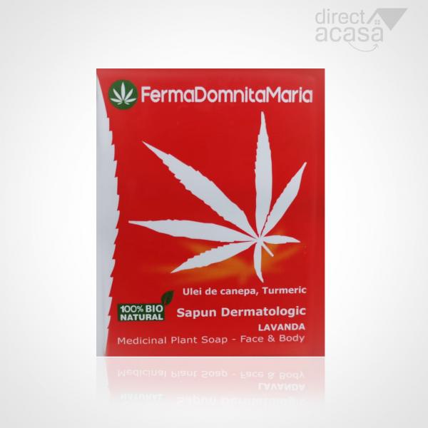 Sapun Dermatologic din canepa - Hemp & Chamomile Natural Soap 100g 0