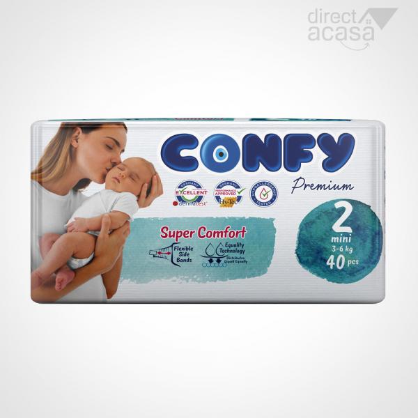 Confy Scutece copii nr.2 premium mini eco 1x40 0