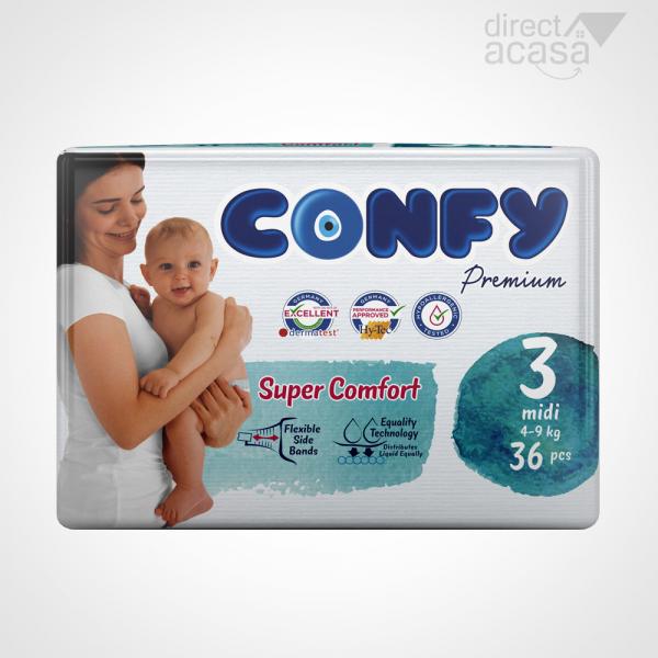 Confy Scutece copii nr.3 premium midi eco 1x36 0