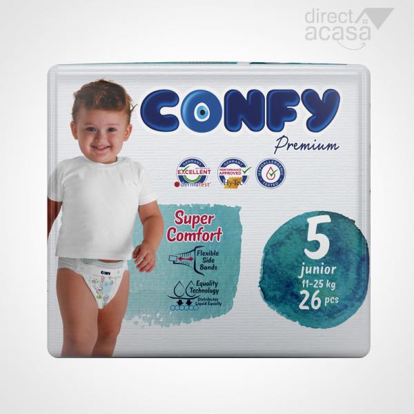 Confy Scutece copii nr.5 premium baby jr. eco 1x26 0