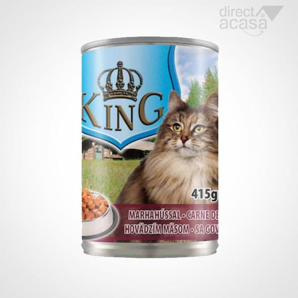 KING CONSERVA PENTRU PISICI CU CARNE DE VITA 415G 0