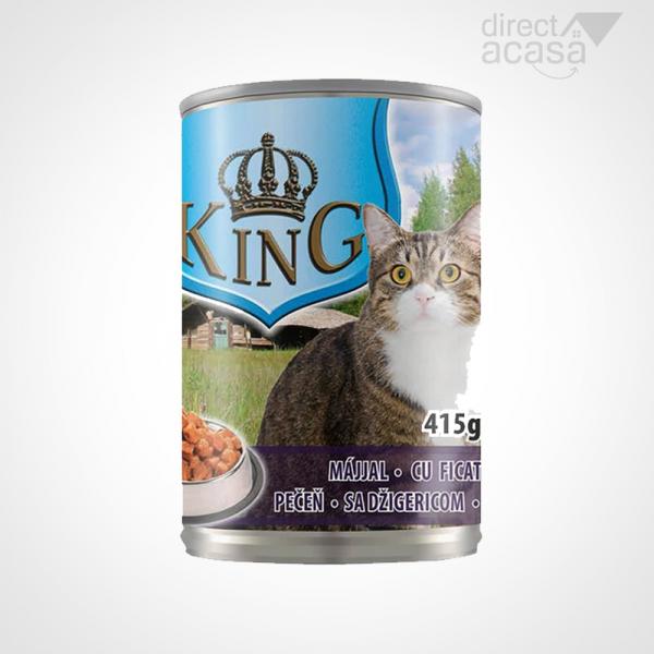 KING CONSERVA PENTRU PISICI CU FICAT 415G 0