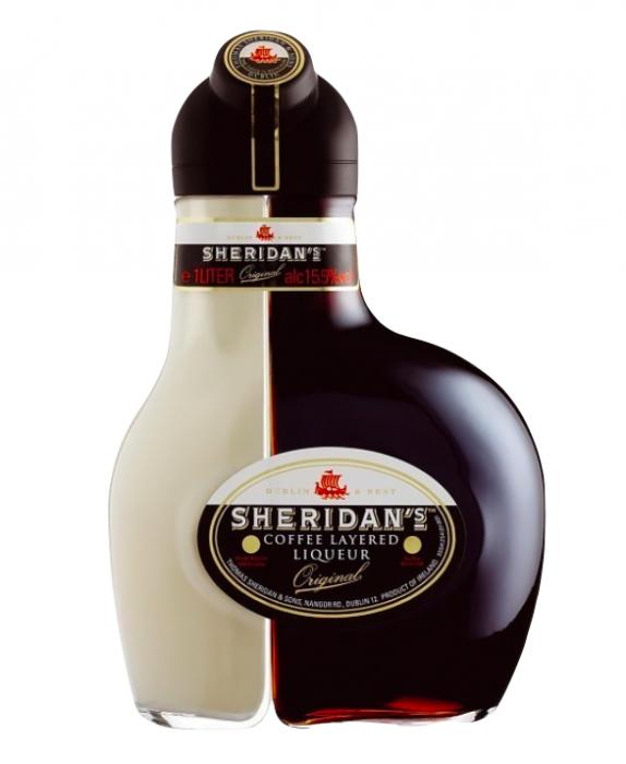 Lichior de cafea si ciocolata alba, Sheridan's, 15.5% alc, 1L 0