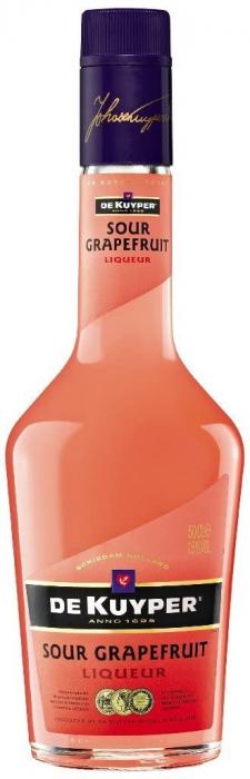 Lichior Grapefruit, De Kuyper, 15% alc., 0,7L [0]