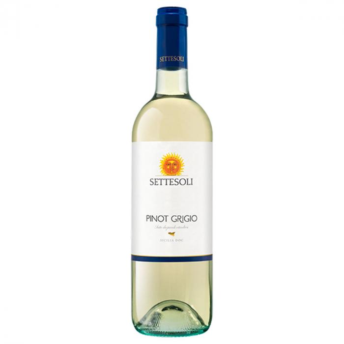 Vin alb Pinot Grigio Sicilia DOC, Settesoli, 0,75L  0