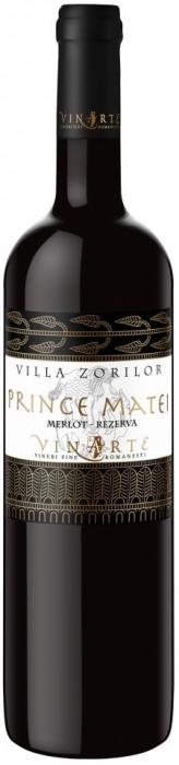 Vin Rosu de colectie Merlot Sec 2010, Prince Matei, 0,75 L 0