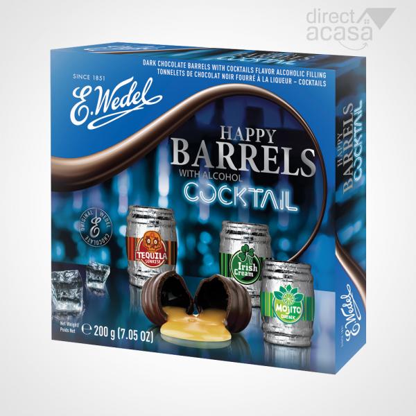 WEDEL BUTOIASE DE CIOCOLATA NEAGRA CU UMPLUTURA DE ALCOOL COCKTAIL 200G 0