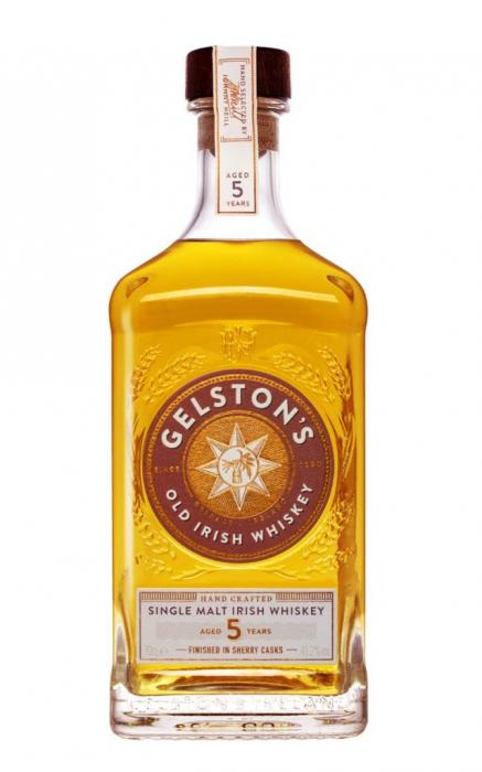 Whiskey Single Malt Irish 5 years, Gelston's, 41,2% alc., 0,7L 0