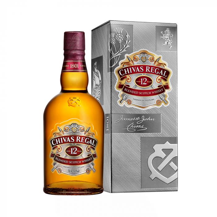 Whisky 12 years Cutie, Chivas Regal, 40% alc., 0,5L 0