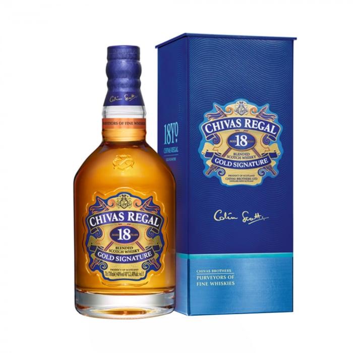 Whisky 18 years Giftbox, Chivas Regal, 40% alc., 0,7L 0