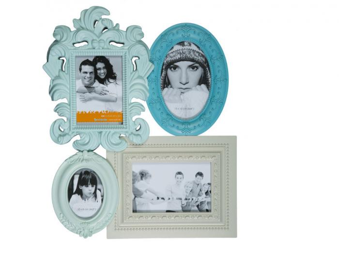 Rama Foto Vintage Albastru 0