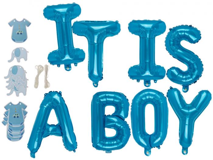 "Set baloane folie ""It is a boy"" 0"