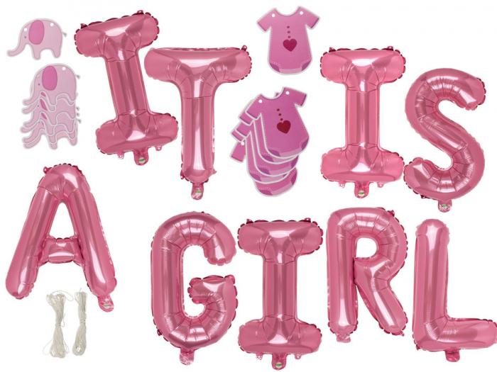 "Set baloane folie ""It is a girl"" 0"