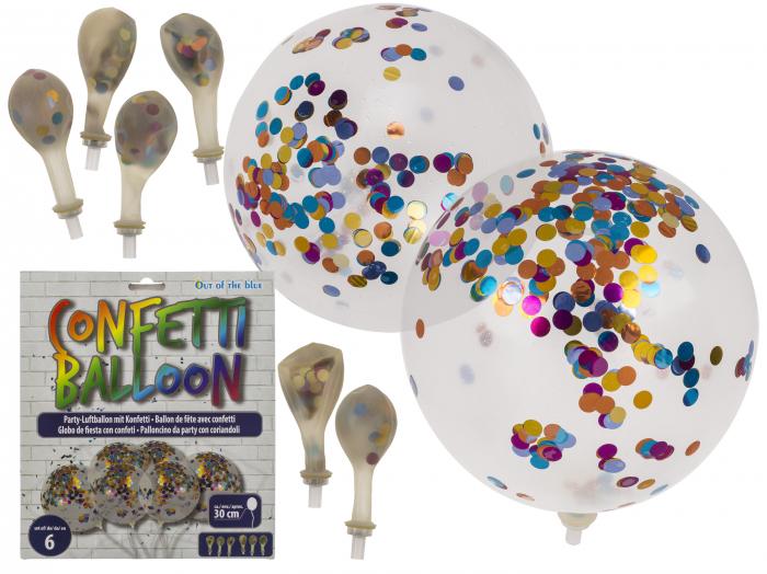 Set 6 baloane cu confetti 0