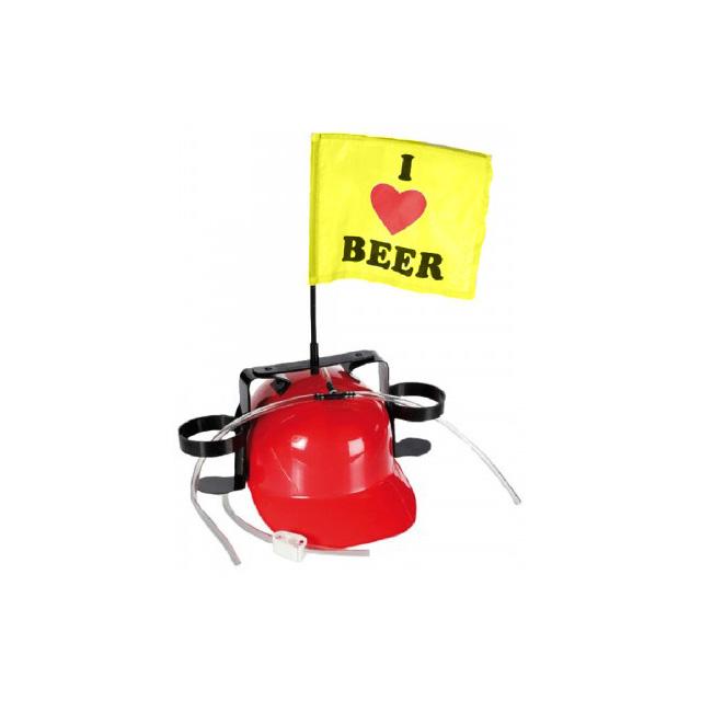 Casca de bere cu stegulet si suport de doze 0