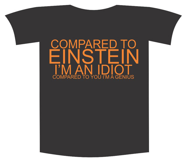 "Tricou imprimat ""Compared to Eins"""