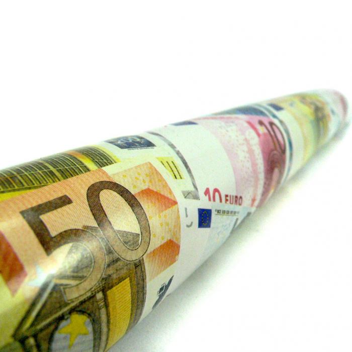 Confetti 60 cm Euro 1