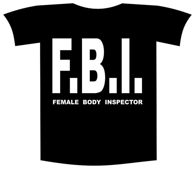 """Tricou imprimat """"Female breast inspector"""" 0"""
