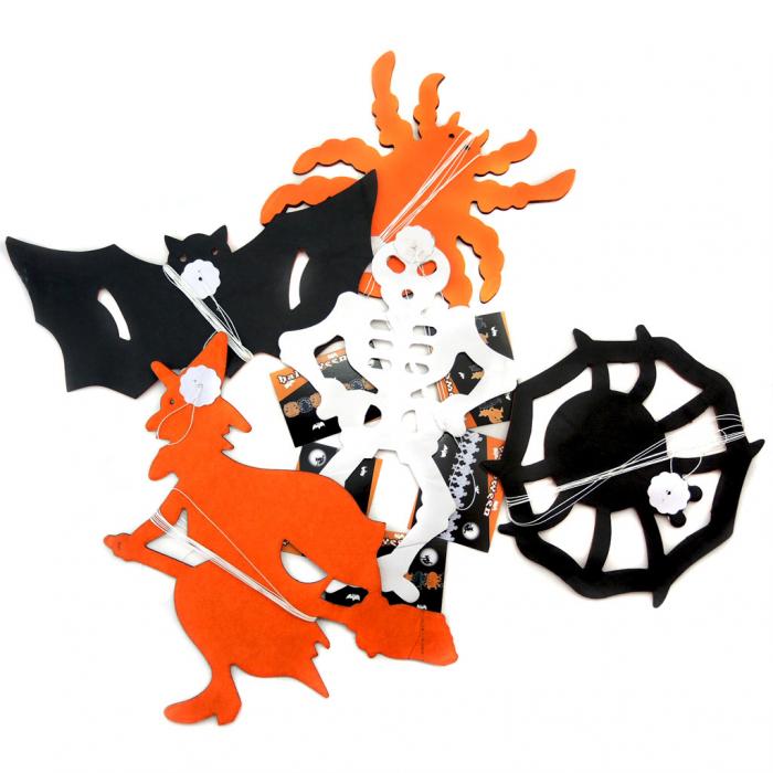 Ghirlanda dovleac schelet/ paianjen/ liliac 0