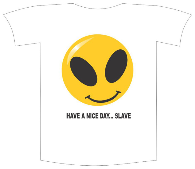 "Tricou imprimat ""Have a nice day"" 0"